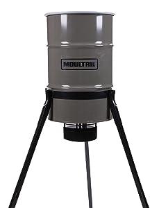 Moultrie Pro Magnum Tripod Deer Feeder   30-Gallon   LCD Timer   200 lb. Capacity   All-Metal Feeder Kit