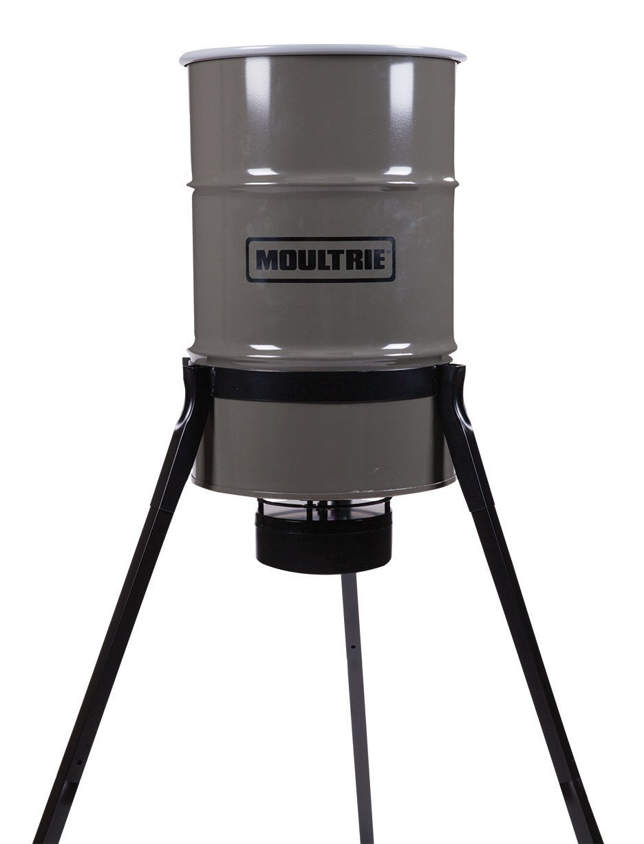 Moultrie Pro Magnum Tripod Deer Feeder | 30-Gallon | LCD Timer | 200 lb. Capacity | All-Metal Feeder Kit