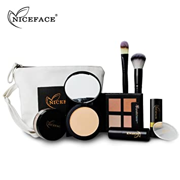 niceface 2017 hot christmas makeup kits gift set brush concealer stick loose powder lipstick kit