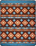 El Paso Designs Native American Southwest Warm Smooth Cozy Lodge Blanket for Cabin, Home, Cottage or Chalet 80'' x 60'' (Santa Fe)