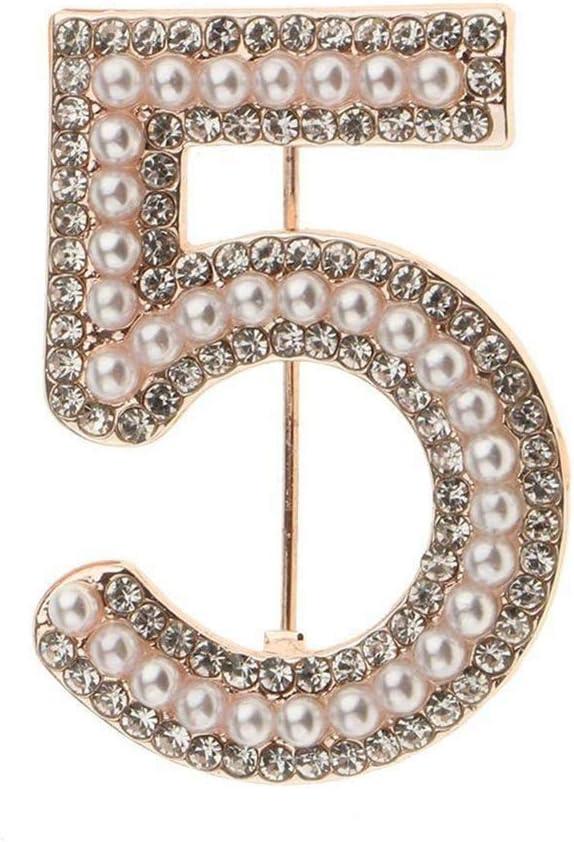Ogquaton///Femmes 5 Figure Faux Perle Strass Insigne Broche Broche V/êtements Bijoux De Haute Qualit/é