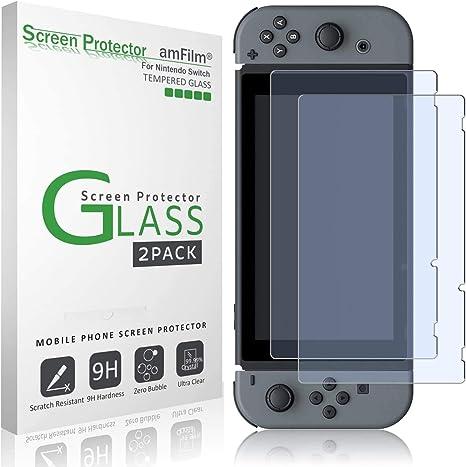 amFilm Nintendo Switch Protector Pantalla (2 Piezas), Cristal ...