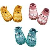 Z-Chen Pack de 3 Pares Zapatillas para Bebé con Suela Antideslizante