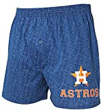 Houston Astros Mens Blue Oversized Showdown Boxer Shorts
