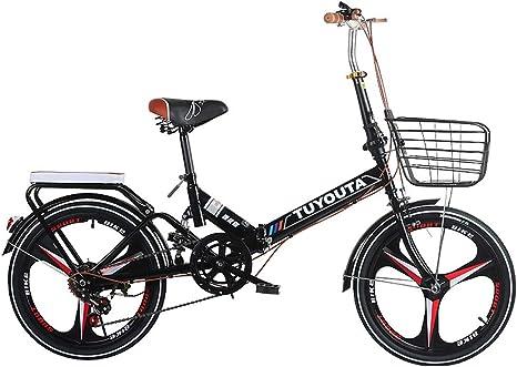 LOVE-HOME Bicicleta Plegable De Adultos De La Bicicleta 20 ...