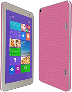 Skinomi Pink Carbon Fiber Full Body Skin Compatible with Toshiba Encore 2 Write 8 (Full Coverage) TechSkin with Anti-Bubble Clear Film Screen Protector
