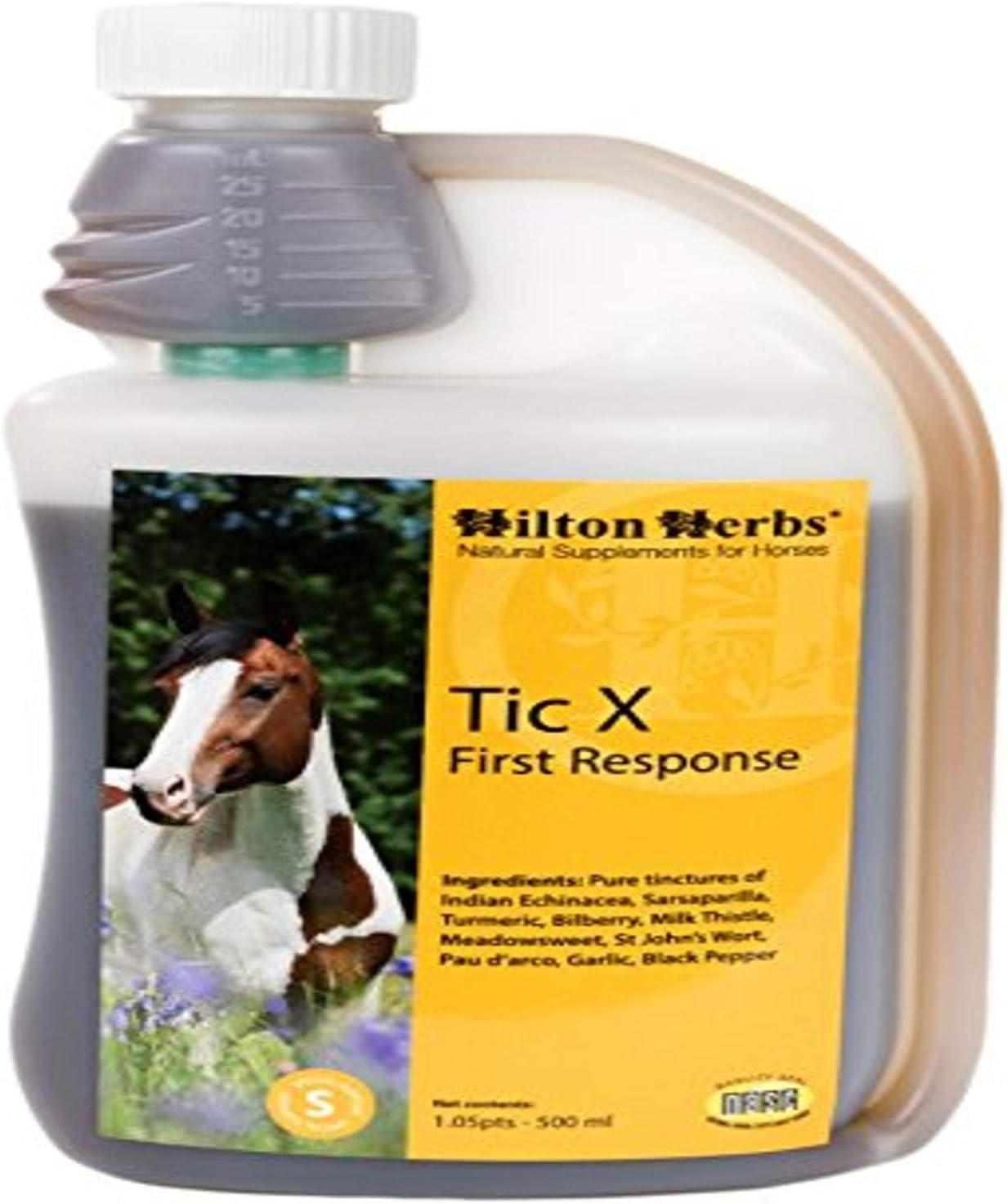 Hilton Herbs 71420 Tic-X First Response Horse Food, 1.05 Pint