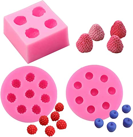 for Craft and Gift Making Strawberry Fruit Candle Mold Flexible Silicone Mold Soap Mold