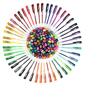 Everyday Essentials Gel Pens - Set of 100 Individual Colors with Barrel Case - Keep Your Pens Neat (100-Color)