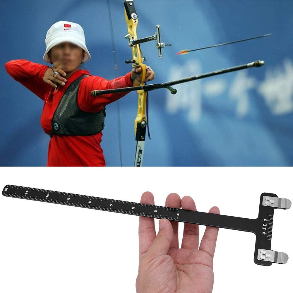 Shooting Ruler Bow T Ruler Stainless Steel Outdoor Archery Assistance Ruler for Recurve Compound Bow