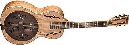 Washburn - Guitarra resonadora de 6 cuerdas, diseño vintage mate ...