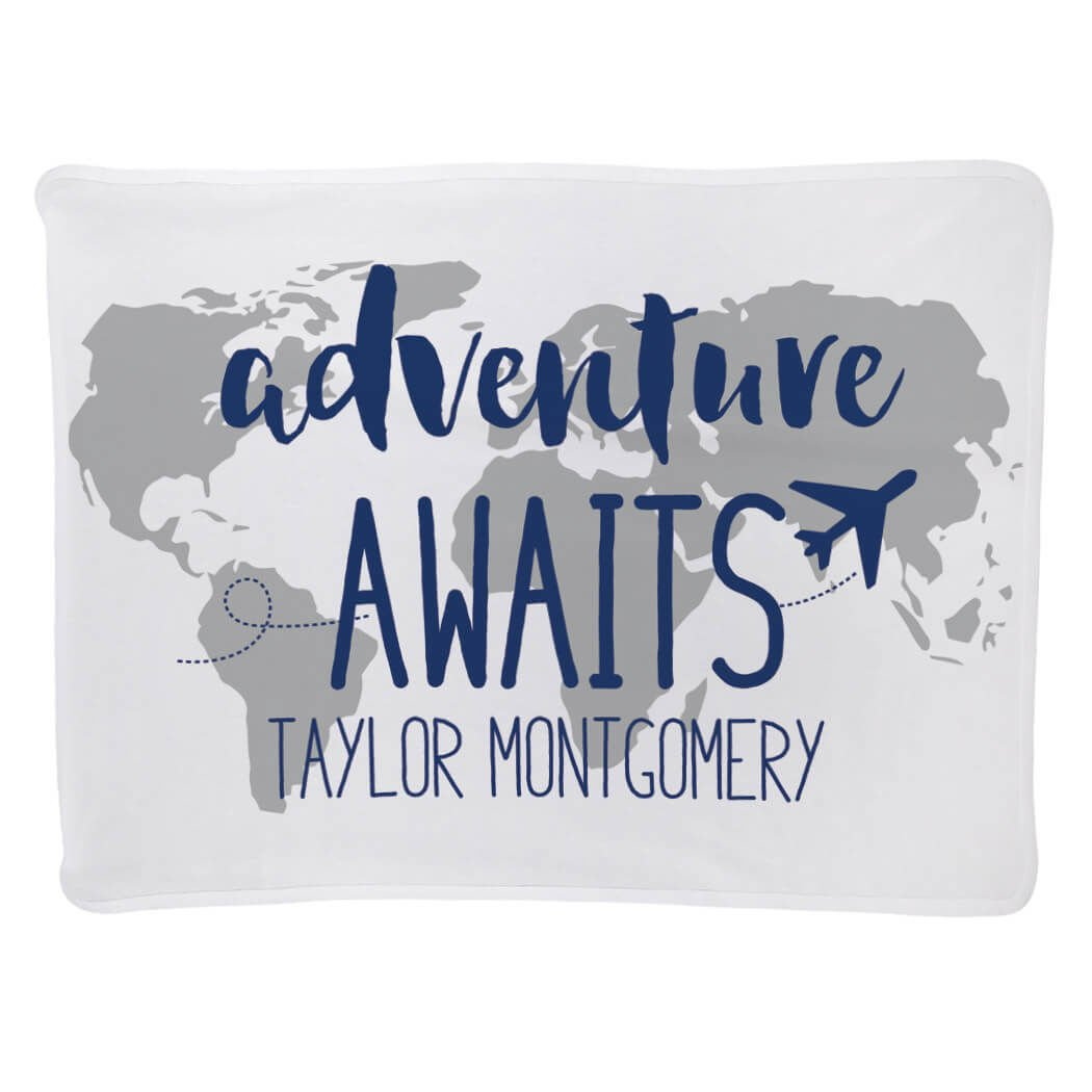 Baby & Infant Blanket | Adventure Awaits | Navy