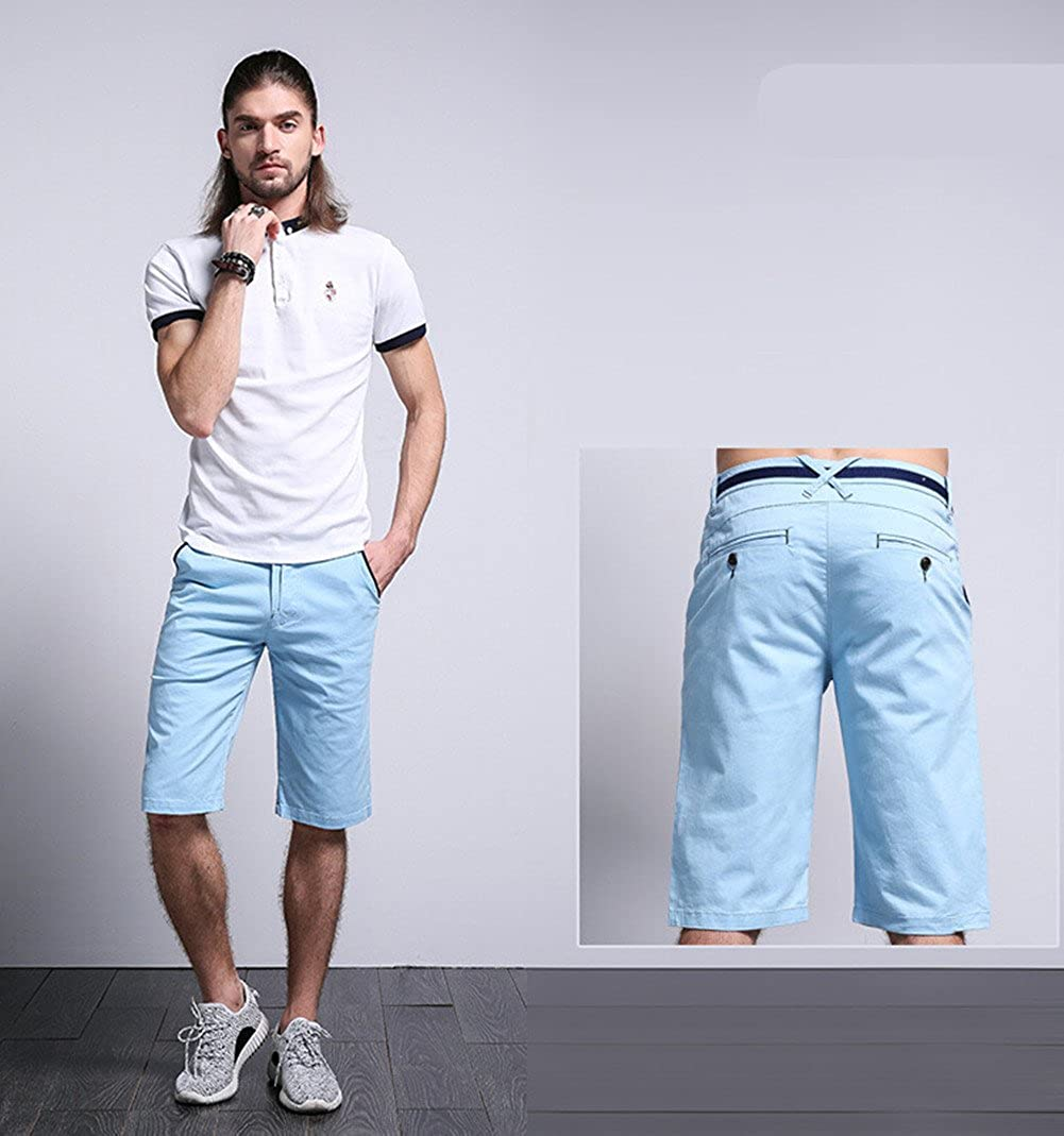 Jinmen Mens Perfect Cargo Shorts Premium Flat-Front Short