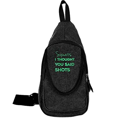 45389865be1a Squats I Thought You Said Shots Fashion Men's Bosom Bag Cross Body ...