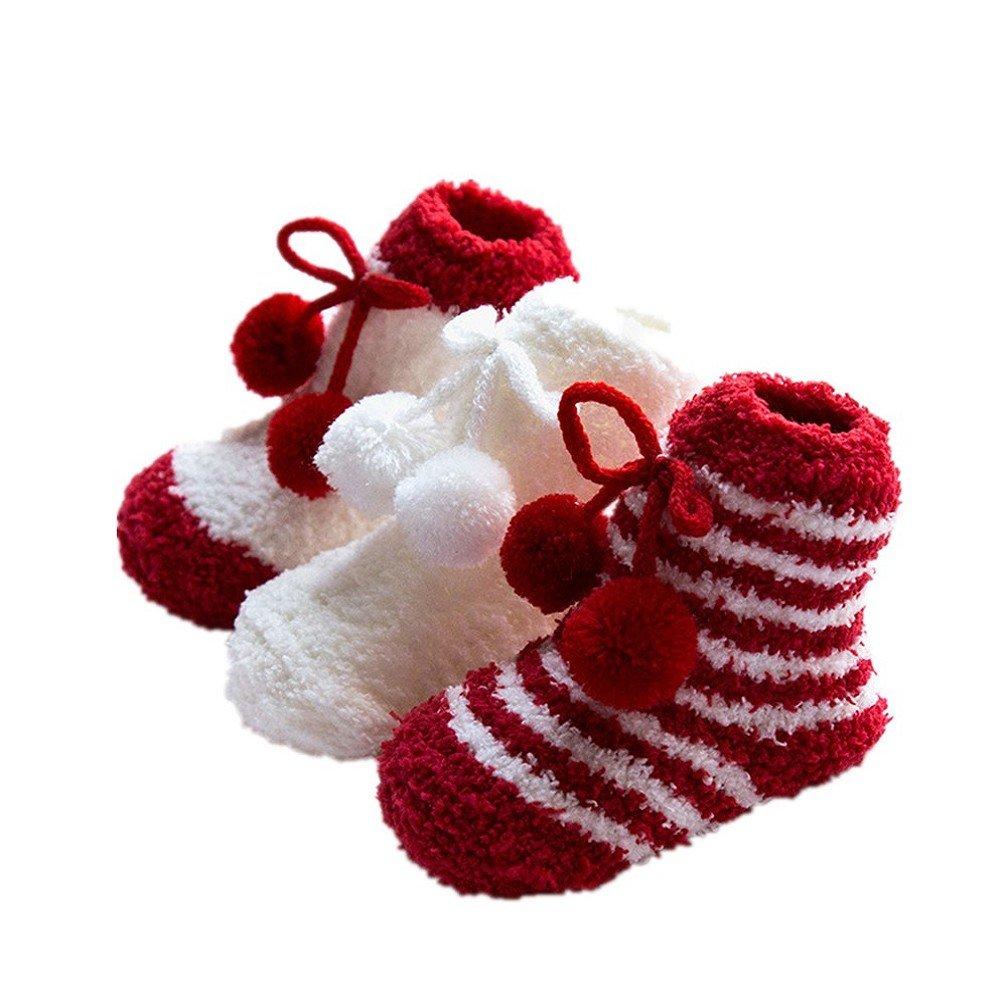AMEIDD Chaussettes bébé 3 paires bébé nourrisson bambin chaussettes chaussettes colorées chaussettes mignons anti-dérapant pour 0-3 ans