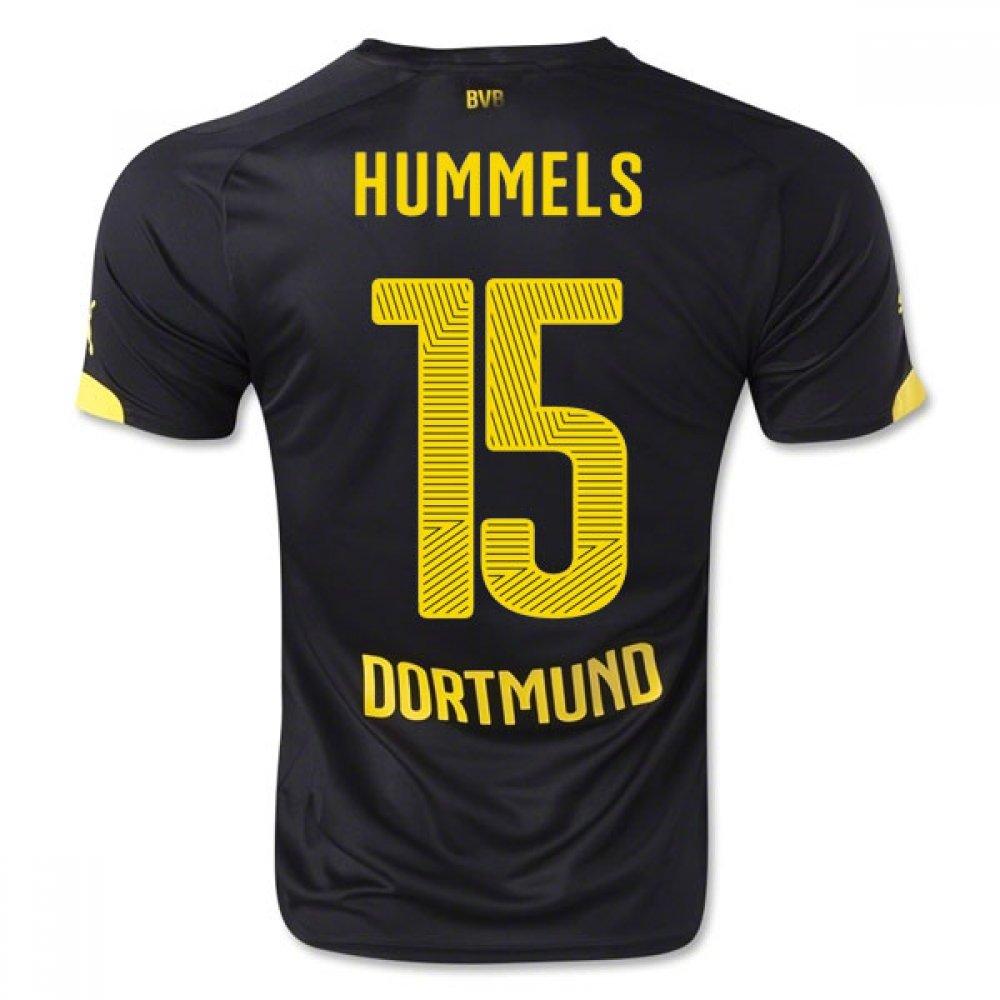 2014-15 Borussia Dortmund Away Shirt (Hummels 15) Kids B077VG6YNDBlack Small Boys 24/26\