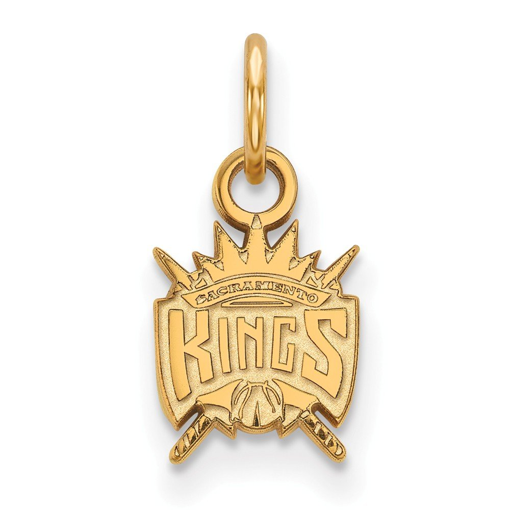 Roy Rose Jewelry 10K Yellow Gold NBA LogoArt Sacramento Kings X-small Pendant/Charm