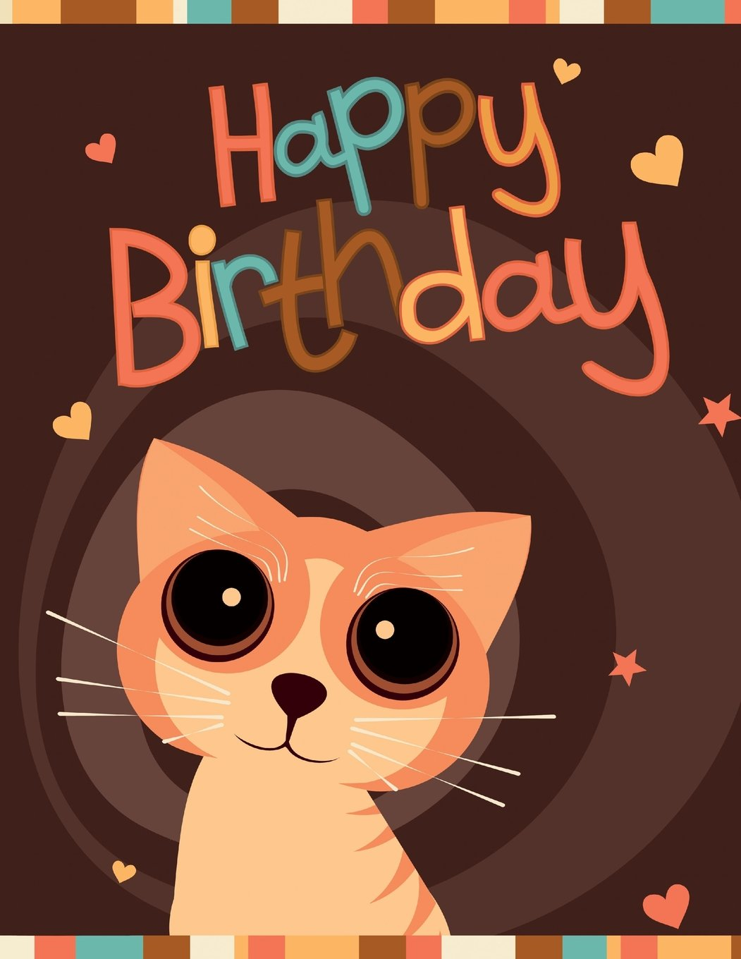 """Download Happy Birthday: Notebook, Journal, Diary, 105 Lined Pages, Birthday Gifts for Cat Lovers, Boys or Girls, Kids, Teens, Women or Men, Mom or Dad, ... Friend, Co-Worker, Book Size 8 1/2"""" x 11"""" pdf"""