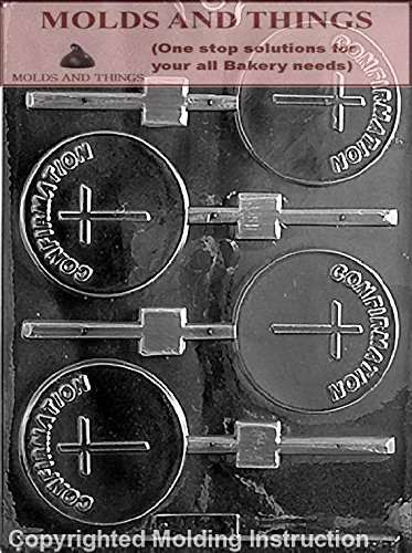 CONFIRMATION LOLLY Chocolate Candy Mold With Molding Instruction - Set of 2 (Molds Chocolate Confirmation)