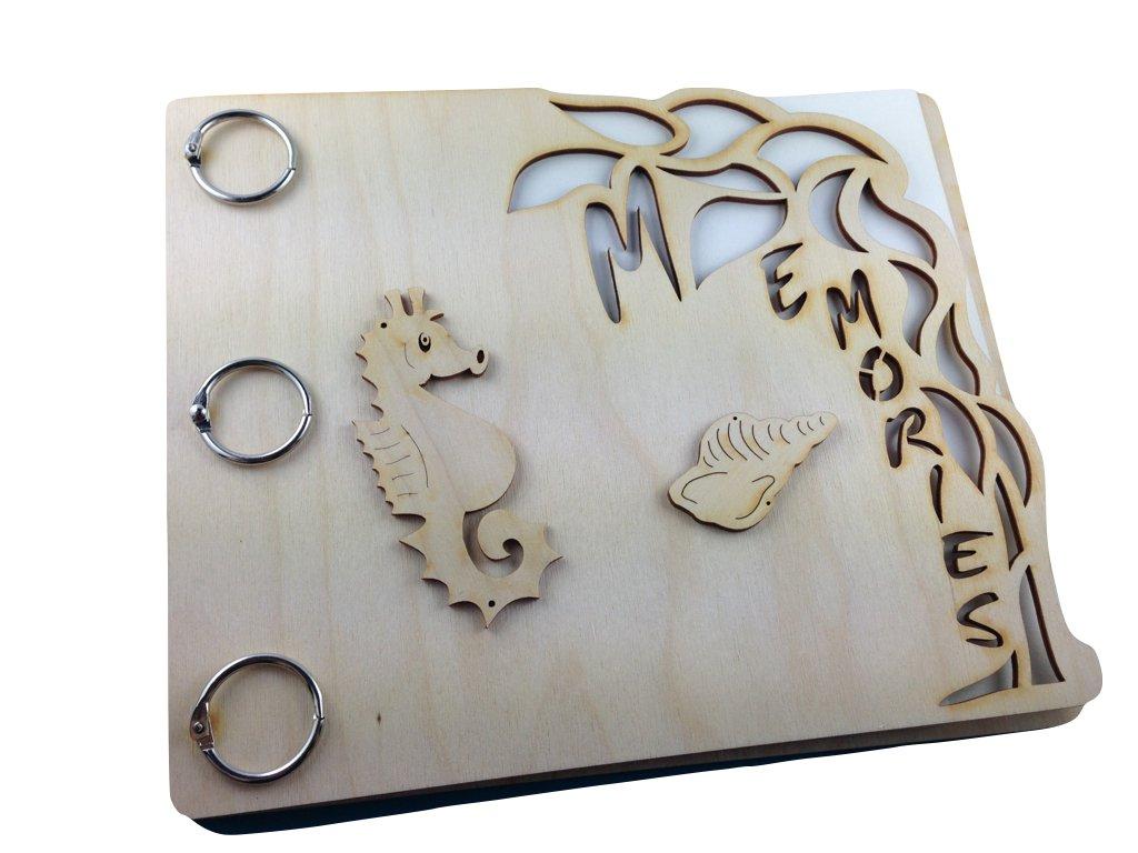 A-MEB3225MA ペトラの工芸品「思い出」メモリーブック 木製 紙 寸法約 25×20.5cm B01061PQ06