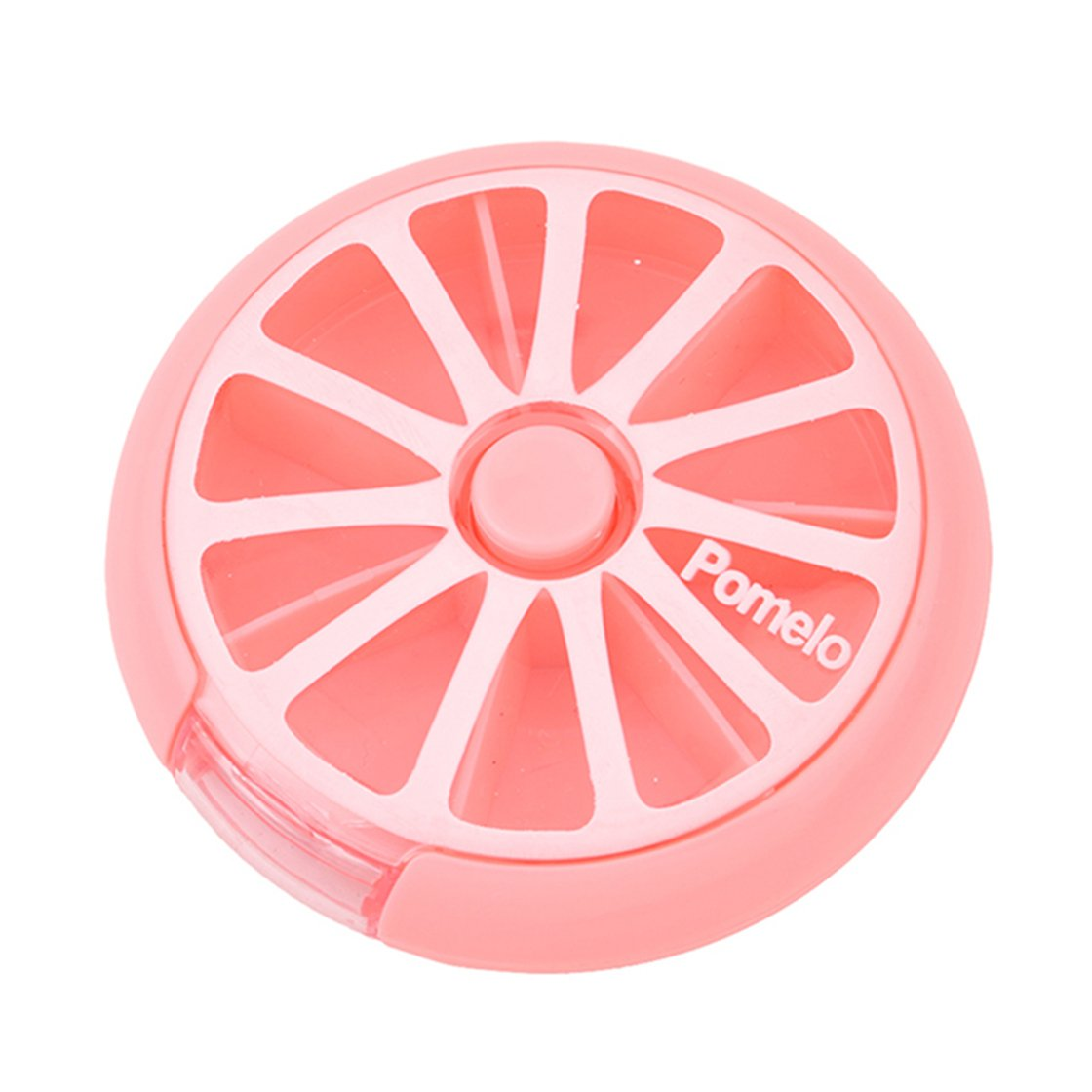 ULAKY Cute Mini Portable Rotary Weekly Pillbox Medicine Box Pill Dispenser Holder Vitamin Candy Storage Cases