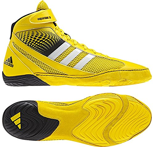 adidas Response 3.1 Wrestling Shoes - Bright Yellow/Silver/Black - 5.5