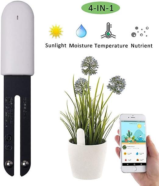 VegTrug Flower Care Medidor de Suelos, Inteligente Monitor de ...