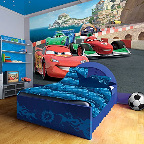 Disney Pixar Cars Racing Wallpaper (Disney Cars Mural)