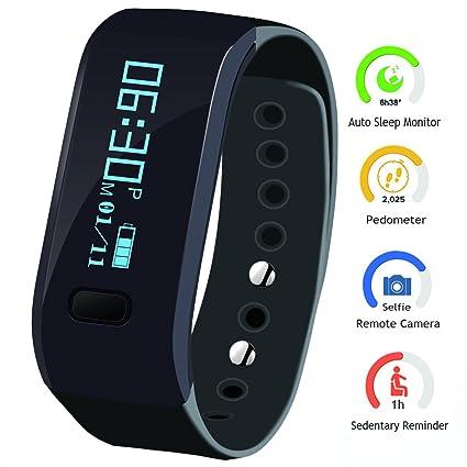 arVin Sports Bracelet, Fitness Activity Tracker Smart Watch Sport Tracker  Health Wireless Monitor Wristband with Bluetooth 4 0 Sleep Monitoring