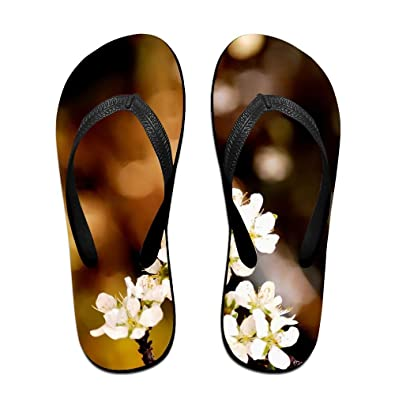 31f1913c1855bc Jinqiaoguoji Customized Summer Spring Flowers White Flowers Plum Garden  Plant Flowers Womens Sandals Beach Sandals Pool