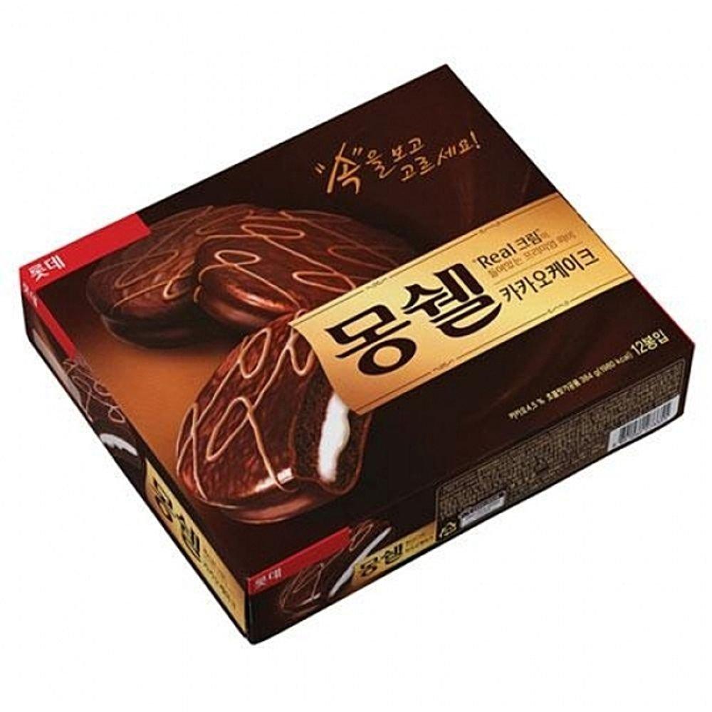 Lotte Mon Cher TongTong Real Cacao Cream Cake/Korea Chocolate Pie 384g 몽쉘