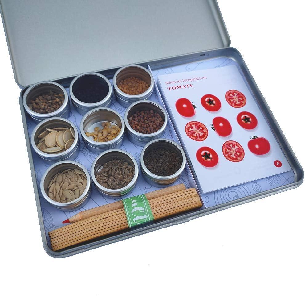 Colecci/ón 9 variedades de verdura y hortalizas con certificado ecol/ógico Garden Pocket MI HUERTO ECOL/ÓGICO