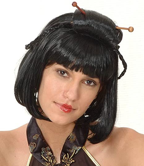 Black Chinese wig for women. (peluca)