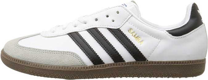 adidas Originals Men's Samba Soccer Inspired Sneaker,WhiteBlackGum,10.5 M US