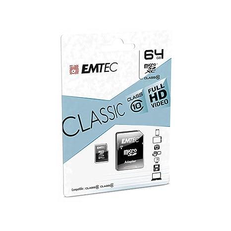 Emtec Micro SDHC ECMSDM64GXC10CG Memoria Flash 64 GB ...