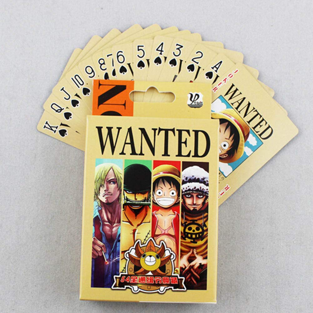 Haushele OFD Collection Poker Anime Peripherie One Kings Ruffy Sauron Poker Wanted Poker Collection Cadeaux H02
