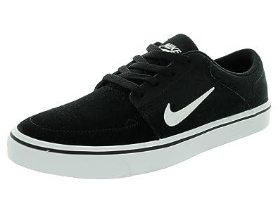 Nike Boys' SB Portmore GS Low-Top Sneakers, Black (Black/White