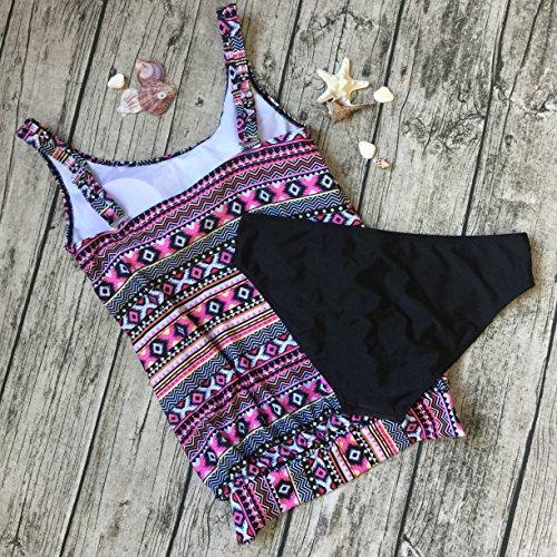 Due 2017 Swimwear bagno Estate 3 Pezzi Bikini Tankini Donna Multicolore costumi Size Plus AHOOME da TC4AqA
