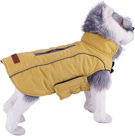 ThinkPet Capa Perros de algodón Abrigo Reversible Ligero Capa ...