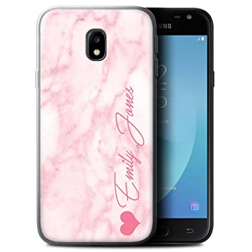 brand new 47147 e045c Stuff4 Personalised Custom Marble Gel/TPU Case for Samsung Galaxy J3 ...