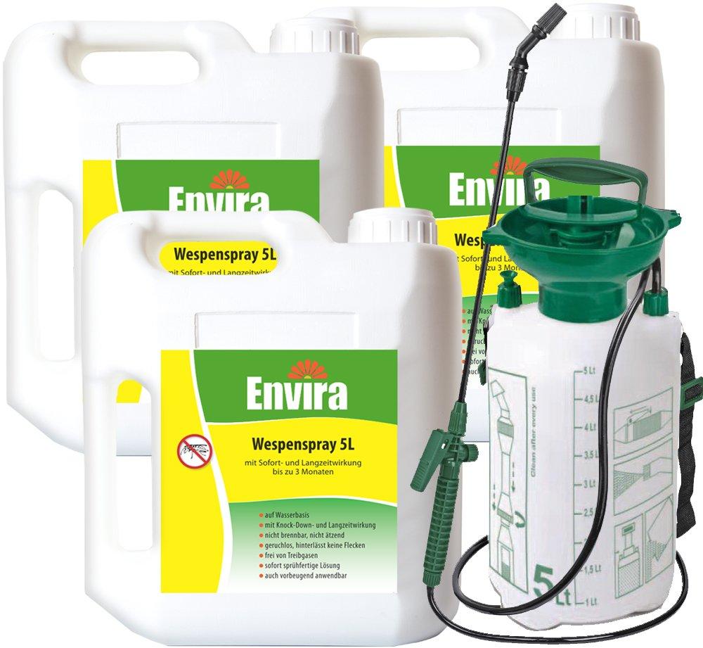 ENVIRA Wespenmittel 3x5Ltr + 5Ltr Drucksprüher