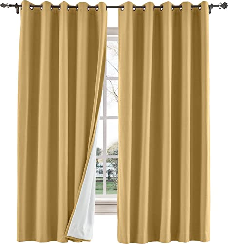 ChadMade Extra Wide and Long Drape Blackout Curtain Bedroom Living Room Drape