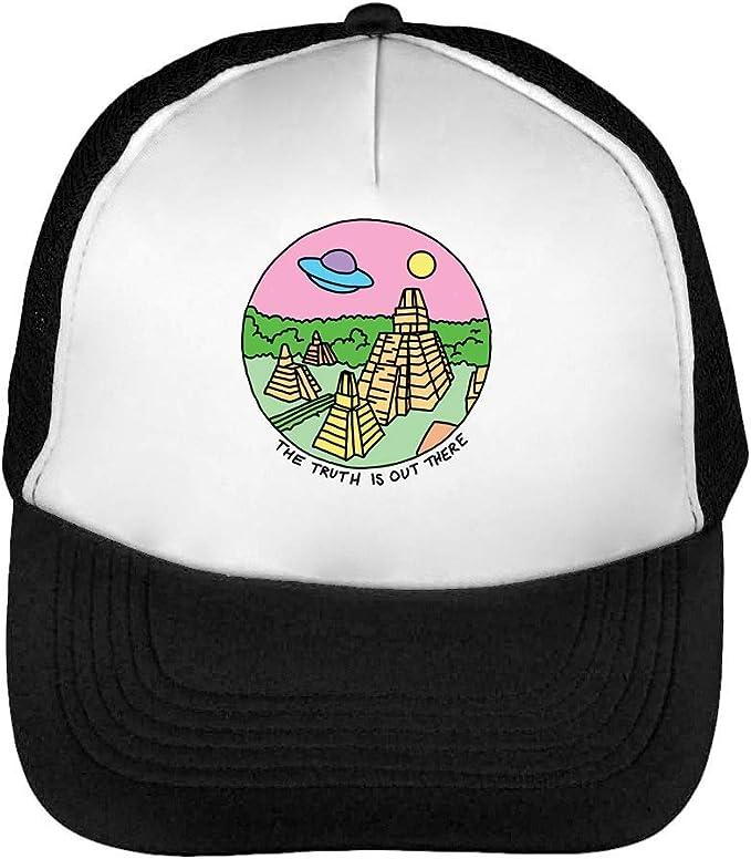 UFO Gorras Hombre Snapback Beisbol Negro Blanco: Amazon.es: Ropa y ...