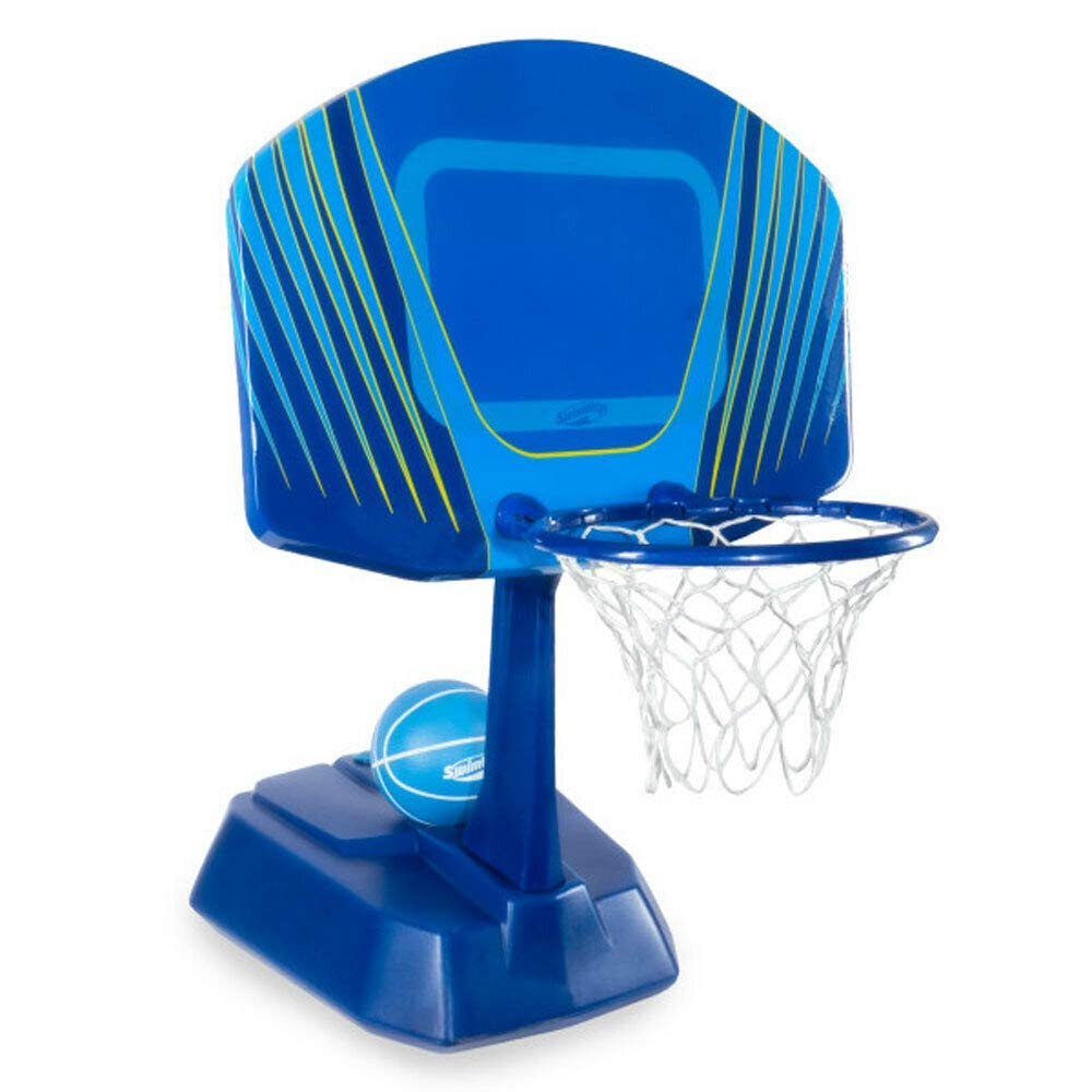 41'' Blue and Yellow Swimming Pool Side Wet Net Basketball Game Set