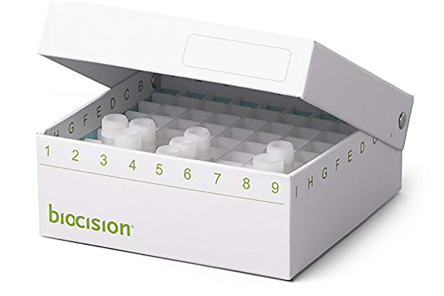 Biocision Hinged CryoBox, 81-Place, White 50PK