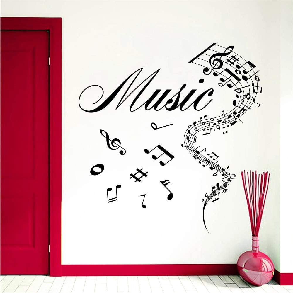 zzlfn3lv Arte diseñado Notas Musicales con Dibujos de música ...