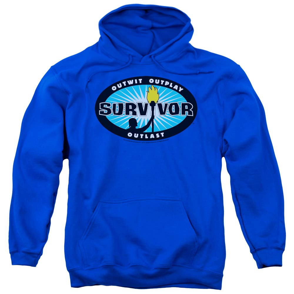SURVIVOR - - Herren Blau Burst Pullover Hoodie