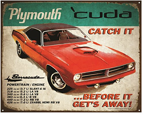 crystal-art-sign-of-the-times-plymouth-cuda-metal-sign-12-x-15