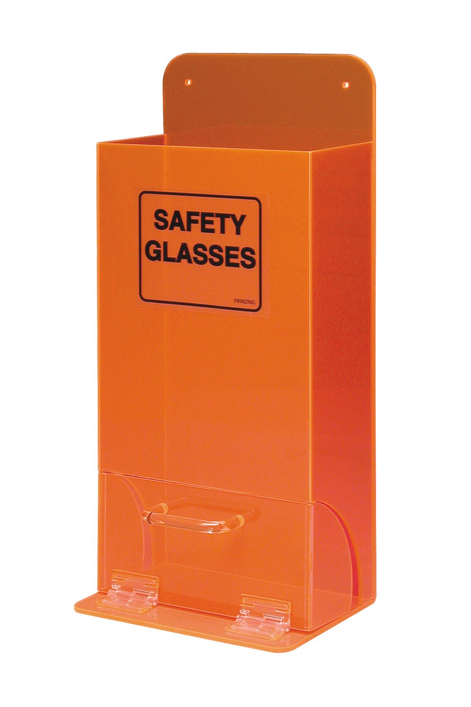 Black on Fluorescent Orange Deluxe Visitor Spec Dispenser Brady 45670 8 Width X 18 Height X 4 Depth Tough Acrylic Legend Safety Glasses