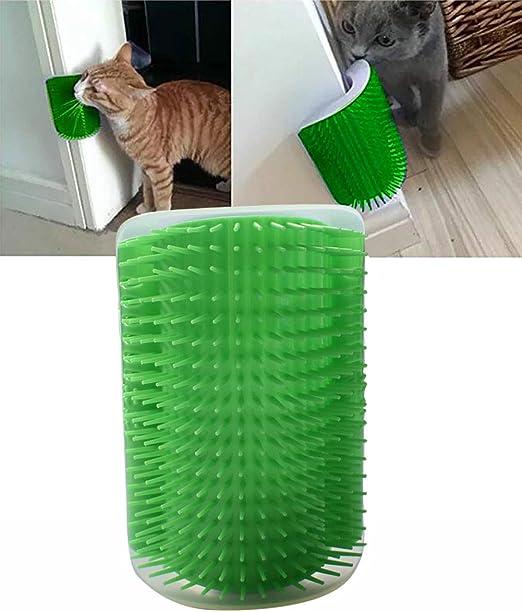 Morezi Cepillo de Pelo para Mascotas, Gatos, Gatos y Gatos con Cepillo de Masaje, con rascador para Gatos: Amazon.es: Productos para mascotas